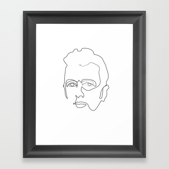 One line Joe Strummer Framed Art Print