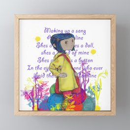Song About Coraline Framed Mini Art Print