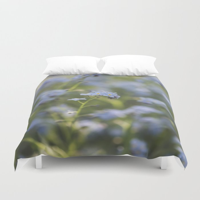 Forget-me-not meadow Spring Flower Flowers Floral on #Society6 Duvet Cover