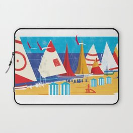 Sailboats on the Beach Laptop Sleeve
