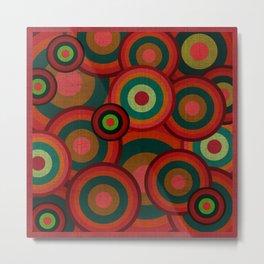"""""""Retro Colorful Circles"""" Metal Print"""