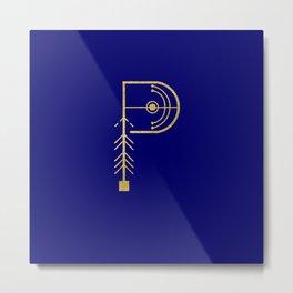 Sacred Geometry Letter P Metal Print