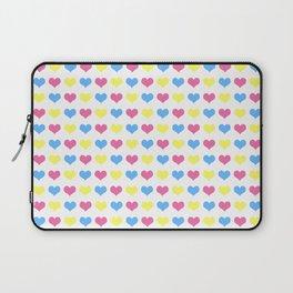 '80s hearts (larger) - Back to Basics Laptop Sleeve