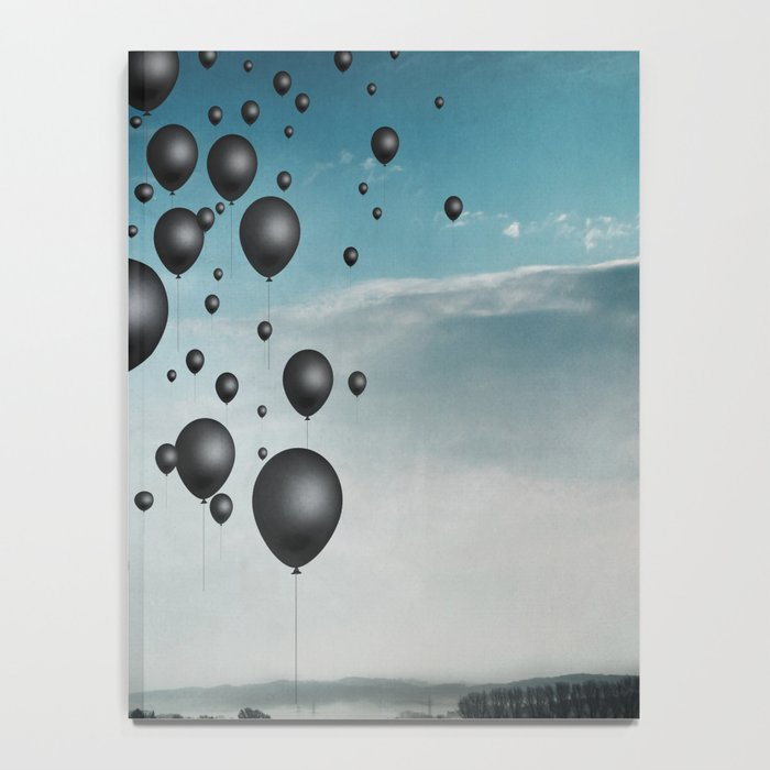 In Limbo - black balloons Notebook
