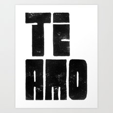 Te Amo Ti Amo - by Genu WORDISIAC™ TYPOGY™ Art Print