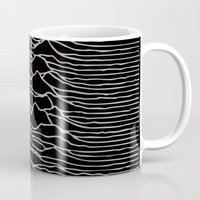 joy division Mugs featuring Joy Division 2 by NoHo