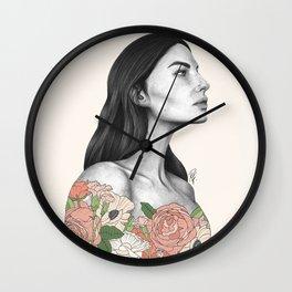 Blushing Blossoms Wall Clock