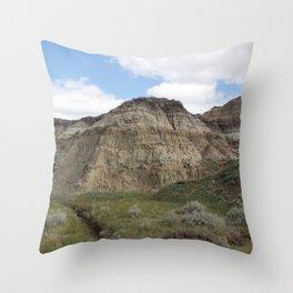 Horseshoe Canyon 3 Drumheller Badlands Throw Pillow