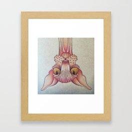 Upside-Down Sphynx Framed Art Print