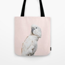 Cockatoo Parrot Photography | Blush Pink | Peach | Happy | Tropical | peek-a-booFun | Paradise Tote Bag