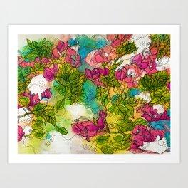 Tropical Flowers Art Print