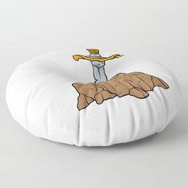 cartoon sword in stone Floor Pillow
