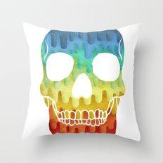 Paper Skull Throw Pillow