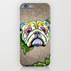 Day of the Dead English Bulldog Sugar Skull Dog Slim Case iPhone 6s