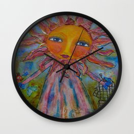 Miss Sunshine - Whimsies of Light Children Series Wall Clock