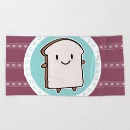 Happy Bread Slice Beach Towel