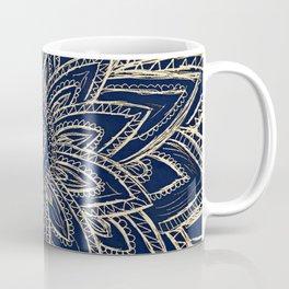 Cute Retro Gold abstract Flower Drawing  geometric Coffee Mug