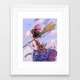 Windy Witch Framed Art Print