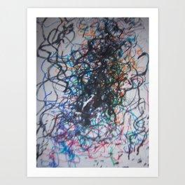 lines number 1 Art Print