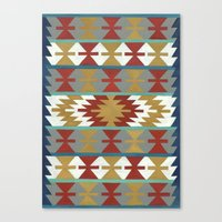 kilim Canvas Prints featuring kilim II by Amylin Loglisci