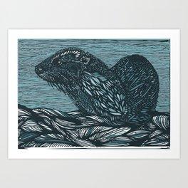 Otter! Art Print