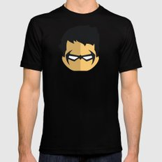 Nightwing LARGE Mens Fitted Tee Black