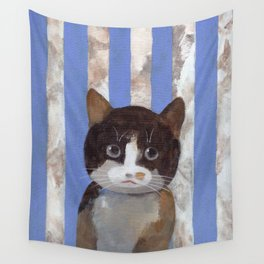 Missy or A Cat with Blue Stripes Wall Tapestry