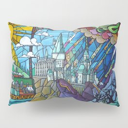 Hogwarts stained glass style Pillow Sham