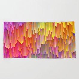 Vibrant Rainbow Cascade Design Beach Towel
