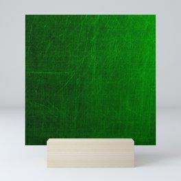 green scratches Mini Art Print