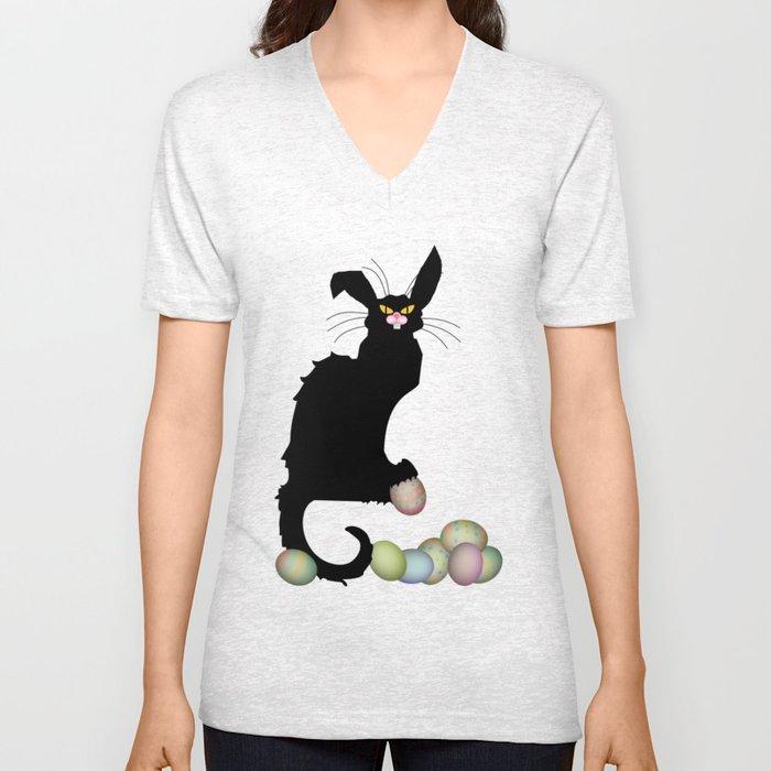 Le Chat Noir - Easter Unisex V-Neck