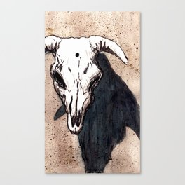 Corrales Cow Skull, Bullet Hole Canvas Print