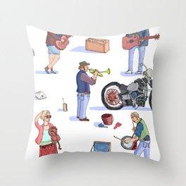 Music Poster! Throw Pillow
