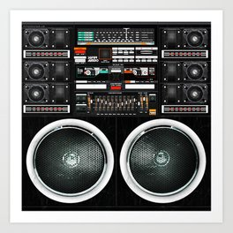 Boombox Ghetto J1 Art Print