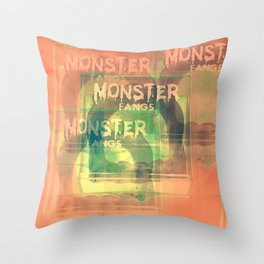 Monster Fangs Throw Pillow