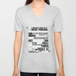 Supernatural - The French Mistake Quotes Unisex V-Neck