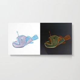 angler fish double Metal Print