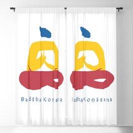 Baddha Konasana (Throne Pose) Yoga Pose Illustration - Series 1 Blackout Curtain