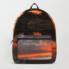Sunset at Halibut Point Quarry Backpack