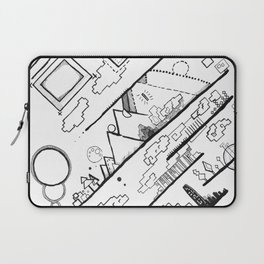 Abstract Ink Village Laptop Sleeve