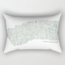 Map Manhattan NYC watercolor map Rectangular Pillow