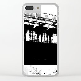 Highway Underpass Clear iPhone Case