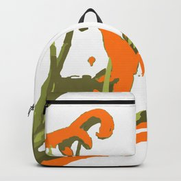 Luscious Lily Bold Graphic Pop Art Flower Print Backpack
