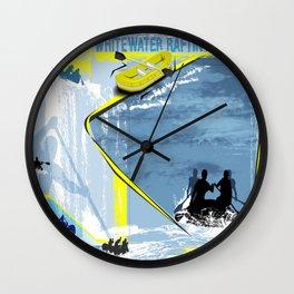 Whitewater Rafting Wall Clock