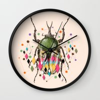 insect Wall Clocks featuring Insect VII by dogooder