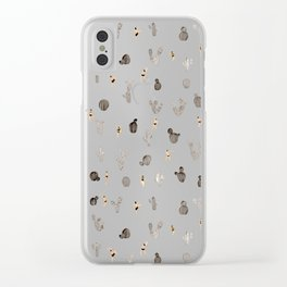 Black and white desert Clear iPhone Case