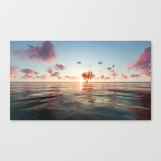 Island in the distance Canvas Print