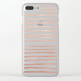 Rosey Gold Clear iPhone Case