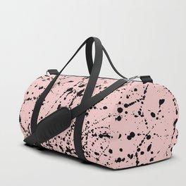Splat Black on Blush Duffle Bag