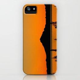 Sunset Silhouette, Mt. Redoubt - Alaska iPhone Case